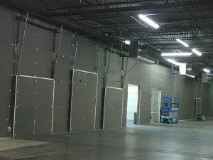 Rigid Insulation in a warehouse